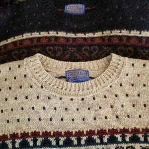 Pendleton | 1980's Lot Two Fair Isle Wool Sweaters